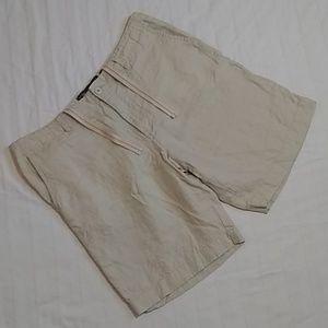 Old Navy Beige Flat Front Linen Shorts Men's 36